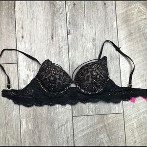 La Senza black lace cutout bra
